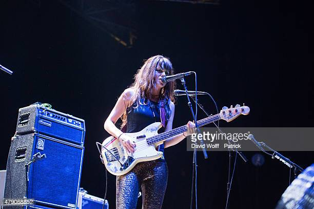 Delila Paz from The Last Internationale opens for The Who at Zenith de Paris on June 30, 2015 in Paris, France.