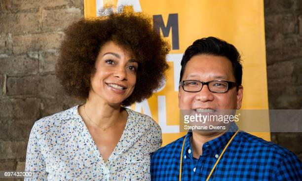 Delila Vallot and Derek Nguyen attend the DGA Reception during 2017 Los Angeles Film Festival at City Tavern on June 16 2017 in Culver City California