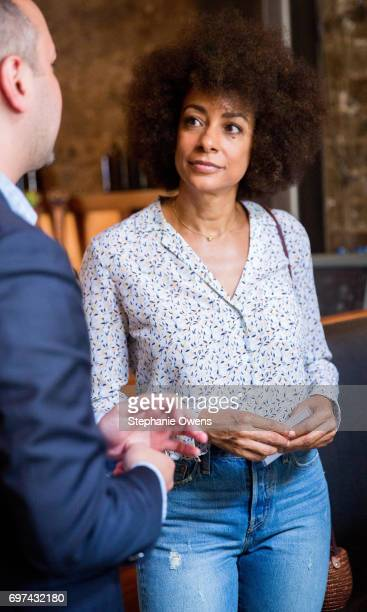 Delila Vallot speaks at the DGA Reception during 2017 Los Angeles Film Festival at City Tavern on June 16 2017 in Culver City California