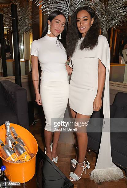 Delilah and Solange Knowles attend the launch of Veuve Clicquot RICH hosted by Solange Knowles at Cafe Royal on May 27, 2015 in London, England.