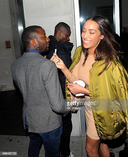 Delilah arrives at Cafe kaiZen for Cherry Edit's fashion web site launch party on October 1 2014 in London England