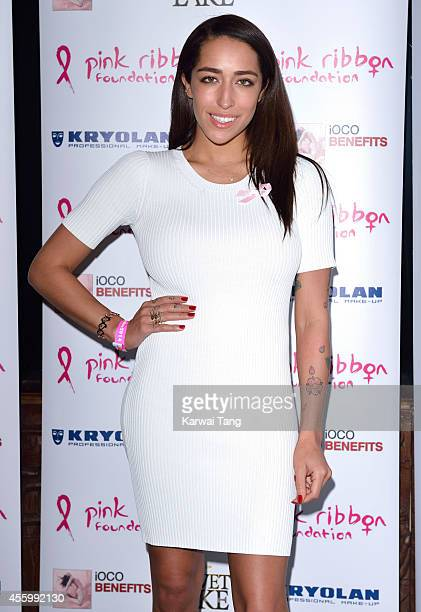 Delilah attends the Pink Ribbon 2014 Launch Party For Breast Awareness Month at Gilgamesh on September 23 2014 in London England