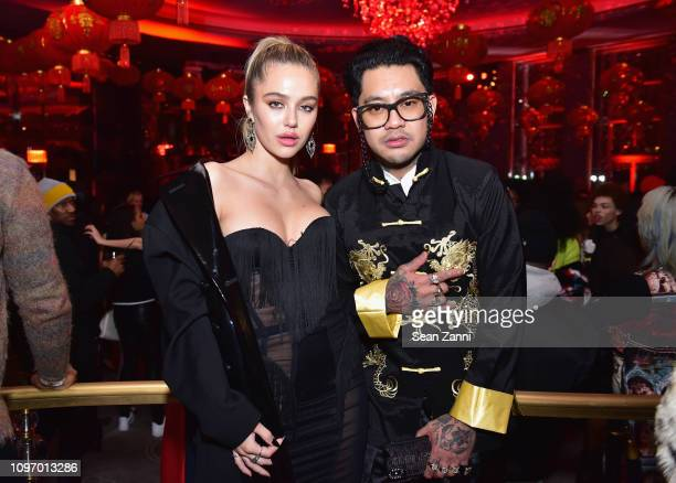Delilah Belle and Jonboy attend Alex Wang's Big Trouble In Little China At The Rainbow Room Powered by Cash App on February 9 2019 at The Rainbow...