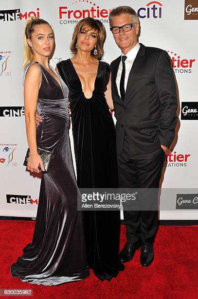 Delilah Belle Hamlin actress Lisa Rinna and Harry Hamlin attend the 3rd Annual Cinefashion Film Awards at Saban Theatre on December 15 2016 in...