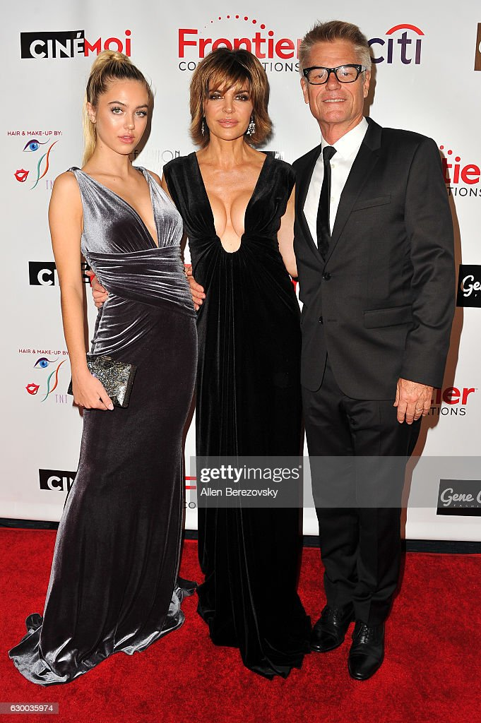 Delilah Belle Hamlin, actress Lisa Rinna and Harry Hamlin attend the 3rd Annual Cinefashion Film Awards at Saban Theatre on December 15, 2016 in Beverly Hills, California.