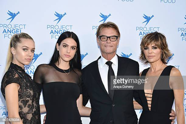 Delilah Belle Hamlin Amelia Gray Hamlin Harry Hamlin and Lisa Rinna attend the Project Angel Food's Angel Awards 2016 Honoring Lisa Rinna Mitch...