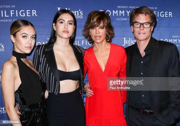 Delilah Belle Hamlin Amelia Gray Hamlin Lisa Rinna and Harry Hamlin attend the Tommy Hilfiger VIP reception and Julien's Auctions on October 19 2017...