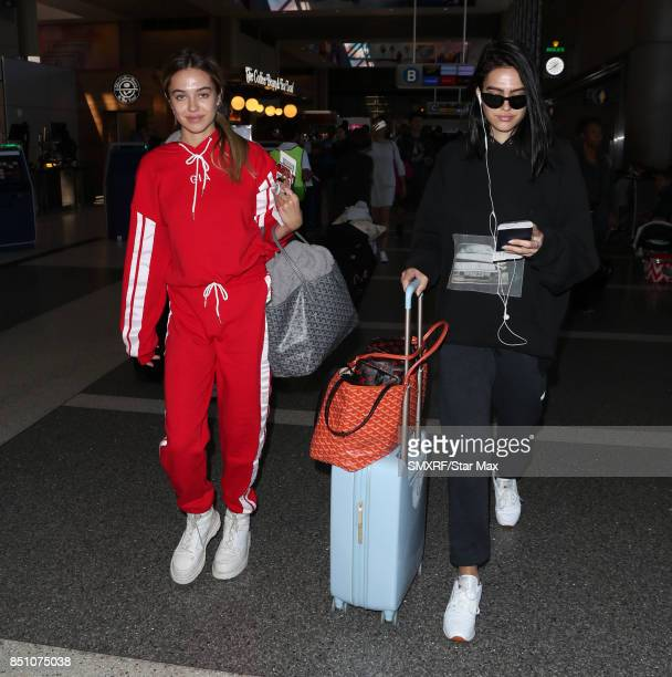Delilah Belle Hamlin and Amelia Gray Hamlin are seen at Los Angeles International Airport on September 21 2017 in Los Angeles California
