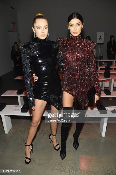 Delilah Belle Hamlin and Nicole Williams attend the The Blonds front row during New York Fashion Week The Shows at Gallery I at Spring Studios on...