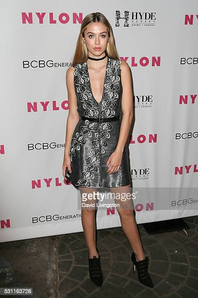 Delilah Belle Hamlin arrives at NYLON and BCBGeneration's Annual Young Hollywood May Issue Event at HYDE Sunset Kitchen Cocktails on May 12 2016 in...