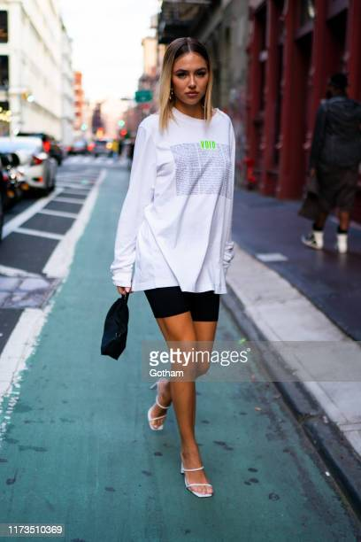 Delilah Belle Hamlin attends Diesel x AColdWall capsule collection launch in SoHo on September 09 2019 in New York City