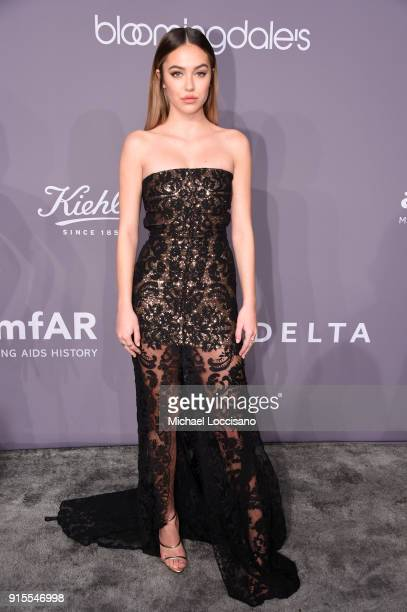Delilah Belle Hamlin attends the 2018 amfAR Gala New York at Cipriani Wall Street on February 7 2018 in New York City