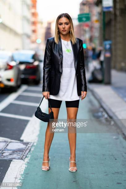 Delilah Belle Hamlin attends the Diesel x AColdWall Capsule Collection launch during New York Fashion Week The Shows at Root Studio on September 09...