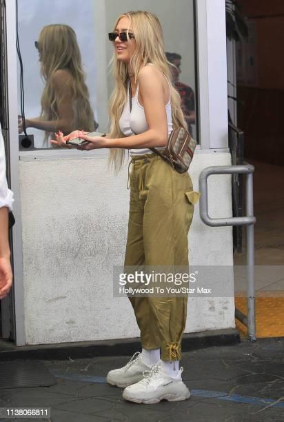 Delilah Belle Hamlin is seen on April 18, 2019 in Los Angeles, California.