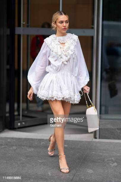 Delilah Belle Hamlin is seen wearing Coach in Chelsea on May 17 2019 in New York City