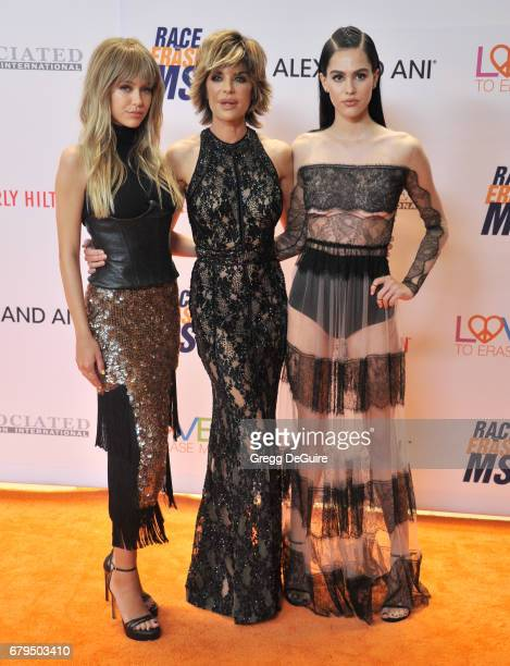 Delilah Belle Hamlin Lisa Rinna and Amelia Gray Hamlin arrive at the 24th Annual Race To Erase MS Gala at The Beverly Hilton Hotel on May 5 2017 in...