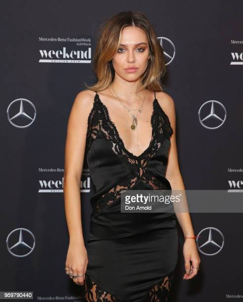 Delilah Belle Hamlin poses during the MercedesBenz Weekend Edition Launch Party at Carriageworks on May 18 2018 in Sydney Australia