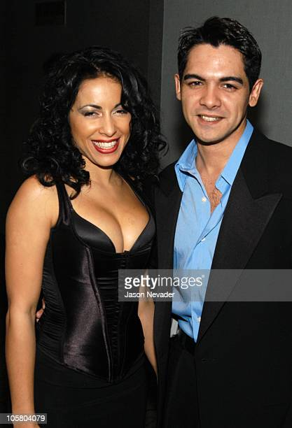 Delilah Cotto and Alexis Cruz during The Latin USA Film Festival Party Extravaganza at Madison Square Garden in New York City New York United States