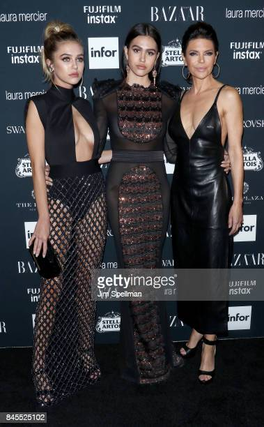 Delilah Hamlin Amelia Hamlin and Lisa Rinna attend the 2017 Harper's Bazaar Icons at The Plaza Hotel on September 8 2017 in New York City