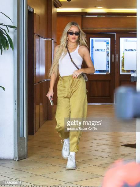 Delilah Hamlin is seen on April 18, 2019 in Los Angeles, California.