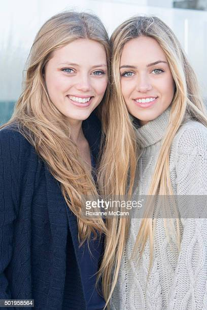 Delilah Hamlin poses for a photo with actress Grace Van Dien on July 16 2015 in Malibu California Delilah is the daughter of actor Harry Hamlin and...