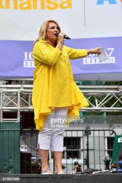 Delilah Rene speaks onstage at 1067 LITE FM's Broadway in Bryant Park 2017 at Bryant Park on July 13 2017 in New York City