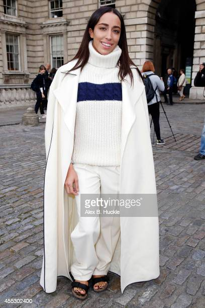 Delilah seen at Somerset House attending the J JS Lee show on September 12 2014 in London England Photo by Alex Huckle/GC Images