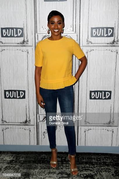 Delina Medhin attends the Build Brunch at Build Studio on September 25 2018 in New York City