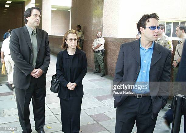 Delinah and Noah Blake the son and daughter of actor Robert Blake exit the Van Nuys courthouse after a Superior Court commissioner granted Robert...