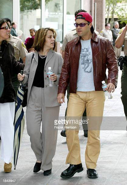 Delinah and Noah Blake the son and daughter of actor Robert Blake exit the Van Nuys Superior courthouse after the hearing May 20 2002 in Van Nuys CA...