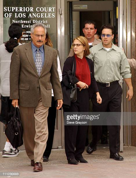 Delinah Blake daughter of actor Robert Blake leaves her father's bail hearing at Los Angeles Superior Court with Scott Ross a private investigator...