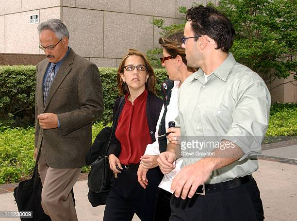 Delinah Blake daughter of actor Robert Blake leaves her father's bail hearing at Los Angeles Superior Court Blake's son Noah Blake is far right Bail...
