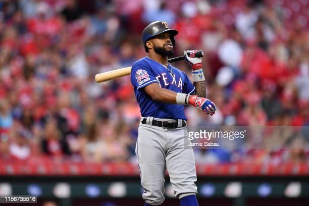 Delino DeShields of the Texas Rangers bats against the Cincinnati Reds at Great American Ball Park on June 14 2019 in Cincinnati Ohio