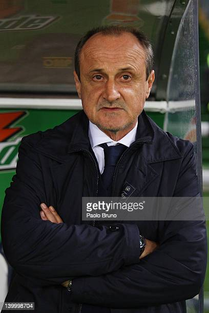 Delio Rossi the coach of ACF Fiorentina looks on during the Serie A match between SS Lazio and ACF Fiorentina at Stadio Olimpico on February 26 2012...