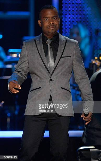 Delious Kennedy of the RB group All4One performs during the David Foster and Friends concert at the Mandalay Bay Events Center October 15 2010 in Las...