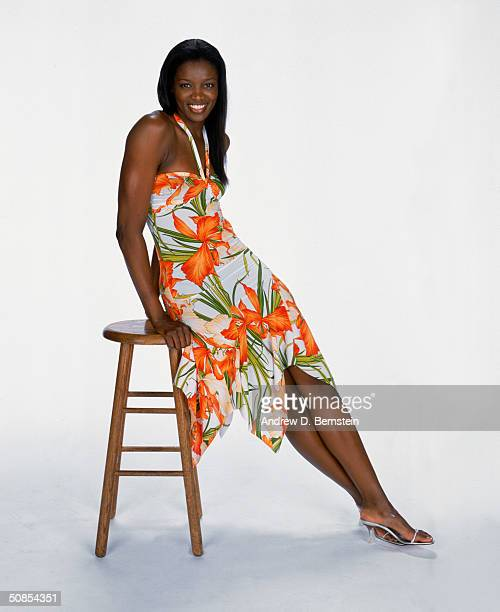 DeLisha MiltonJones of the Los Angeles Sparks poses for a Media Day Portrait at Staples Center on May 10 2004 in Los Angeles California NOTE TO USER...