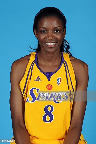 DeLisha MiltonJones of the Los Angeles Sparks poses for a portrait on June 6 2008 at Staples Center in Los Angeles California NOTE TO USER User...