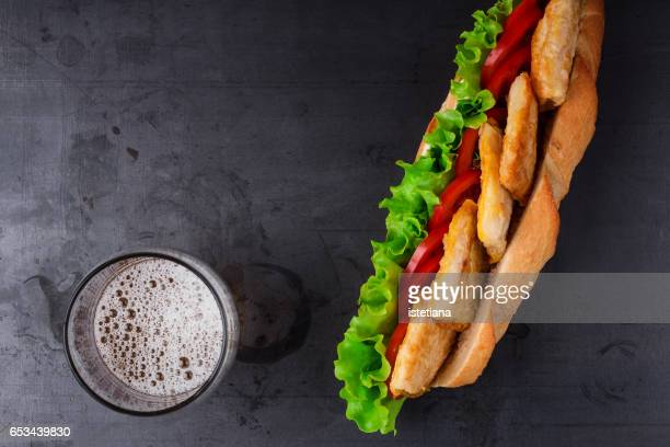 Delisious fried fish sandwich