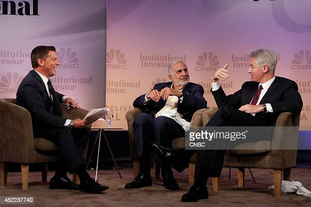 EVENTS Delivering Alpha 2014 Pictured CNBC's Scott Wapner interviews Carl Icahn Chairman Icahn Enterprises and Bill Ackman Managing Partner Pershing...