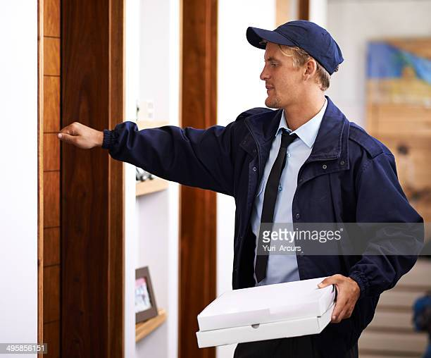 delivering direct to your door - knocking on door stock photos and pictures