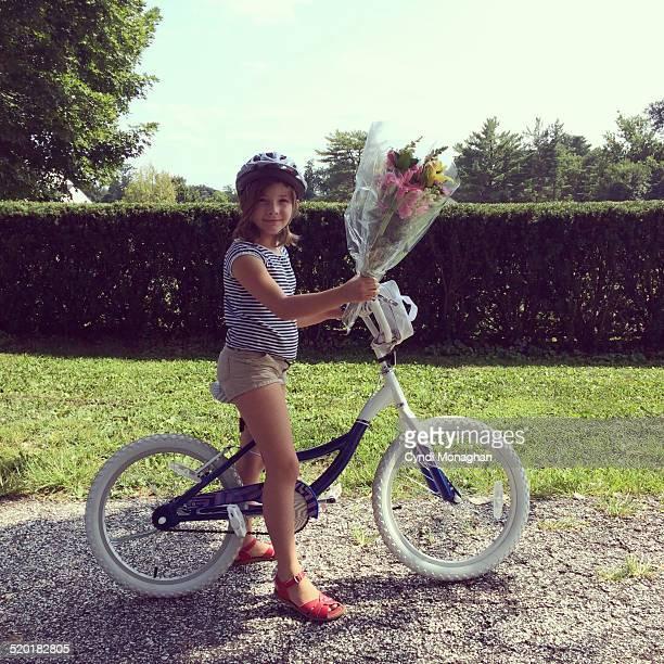 Delivering Flowers on a Bike