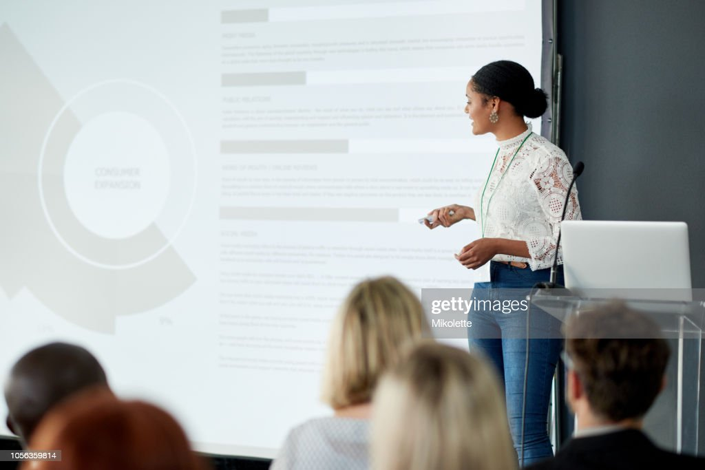 Delivering Informative Presentations Is What She Does Best High Res Stock Photo Getty Images