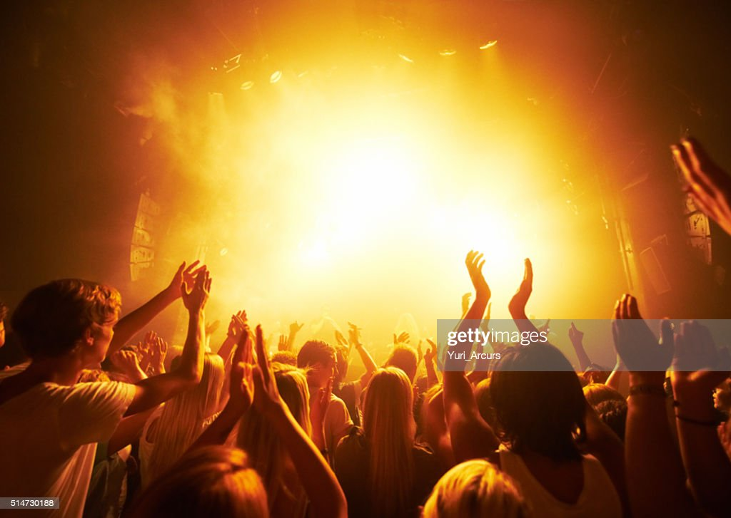 Delivering the best beats to their adoring fans : Stock Photo