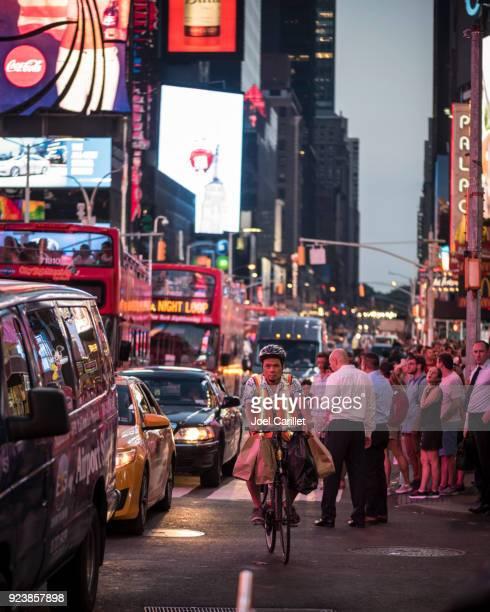 Livraison à vélo dans la ville de New York