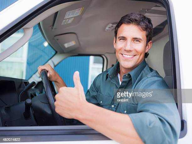 Delivery Driver Giving Thumbs Up