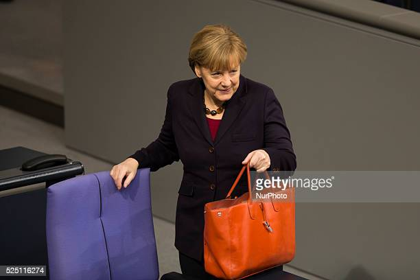 Delivery of a governmental declaration by the German Chancellor Angela Merkel to the forthcoming European council on the 18th and 19th December in...