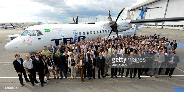 Delivery of an ATR72-500 to Brazilian aircraft company TRIP In Toulouse, France On September 09, 2010-Filippo Bagnato CEO of ATR European...