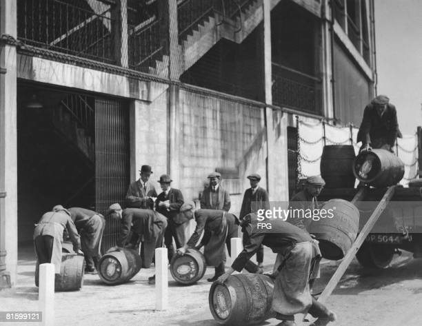 A delivery of beer from Simonds' brewers of Reading arrives at Wembley Stadium London before the FA Cup Final between Cardiff City FC and Sheffield...