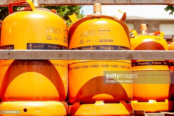 Delivery of butane gas canisters on July 24, 2019 in Madrid, Spain.