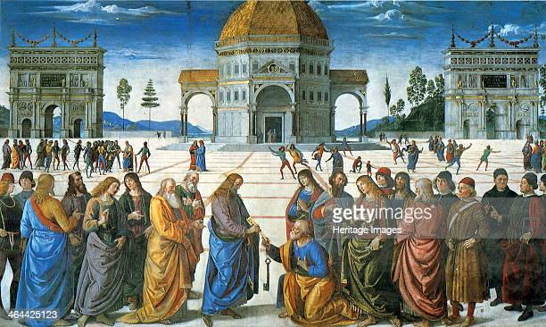 Delivery of the Keys to Saint Peter 1481 Found in the collection of the The Sistine Chapel Vatican